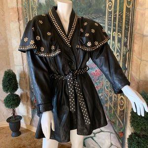 Designer One-of-a-Kind Leather Jacket